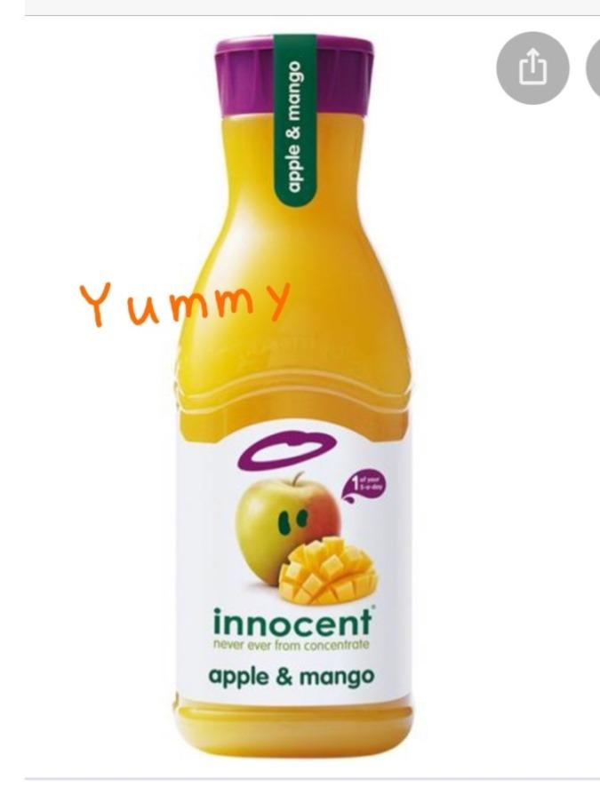 りんごとマンゴーのフルーツミックスジュース