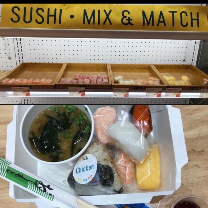 個別包装の寿司
